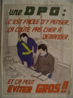 Affiche SNCF De Sécurité - 79 - Une DPG: C´est Facile D´y Penser; Ca Coute Pas Cher à Demander - Transportation