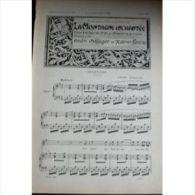 Partition , Supplément à L'Illustration Avril 1897 : La Montagne Enchantee, André Messager Et Xavier Leroux / Musique Tr - Opern
