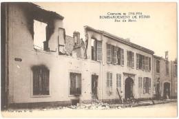 Dépt 51 - REIMS - Bombardement De Reims - Rue Du Marc - Reims