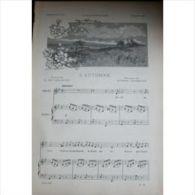 Partition , Supplément à L'Illustration Novembre 1897 : L'automne De Lamartine, Poème De Eugène Lacheurié / Les Maîtres - Opern