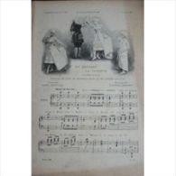 Partition , Supplément à L'Illustration Juillet 1897 : En Dansant La Gavotte, De Gaston Lemaire, Chantée Par Angèle Lega - Opern