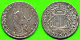[Do] GENOVA - Rep. Genovese 10 SOLDI 1814 (Argento / Argent) - Monnaies Régionales