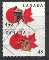 CANADA 1998 - SUMO AND WRESTLING - CPL. SET - USED OBLITERE GESTEMPELT USADO - Lutte