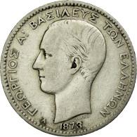 Monnaie, Grèce, George I, Drachma, 1873, Paris, TB+, Argent, KM:38 - Grèce