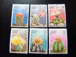 LAOS  1986  FLORE FLEURS DE CACTUS -- YVERT & TELLIER Nº 706  / 711 º FU OBLITERE  MANQUE Nº 712 - Laos