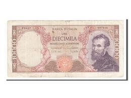 Italie, 10 000 Lire Type Michelangelo - [ 2] 1946-… : République