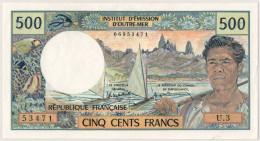 Tahiti, 500 Francs Type 1969-71 - Papeete (Polynésie Française 1914-1985)