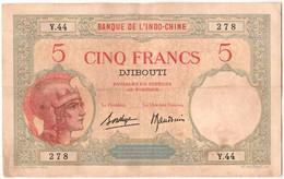[#303167] Somalie Française, 5 Francs Type 1943 - Somalia