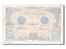 20 Francs Type Bleu - 1871-1952 Gedurende De XXste In Omloop