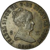 [#32559] Espagne, Isabelle II, 8 Maravedis, 1848, Jubia - [ 1] …-1931 : Royaume