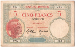 Somalie Française, 5 Francs Type 1943 - Somalia