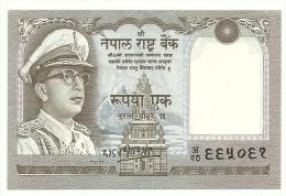 Nepal 1 Rupee 1972 UNC - Nepal