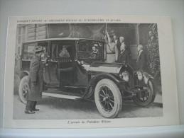 BANQUET OFFERT AU PRESIDENT WILSON AU LUXEMBOURG LE 20-1-1919 - AUTO TRES GROS PLAN (EDITION ?) - Voitures De Tourisme