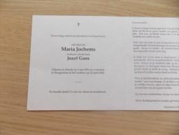 Doodsprentje Maria Jochems Meerle 3/5/1901 Hoogstraten 22/4/2002 ( Jozef Goos ) - Religion & Esotérisme