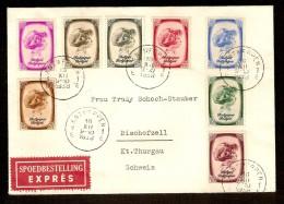 Nrs. 488 T/e/m 495 Verstuurd Per EXPRES  Van ANTWERPEN Naar BISCHOFSZELL ( ZWITSERLAND / SCHWEIZ / SUISSE ) Dd. 16/12/38 - Belgique