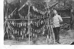 Superbe Carte Photo Ecrite Record Battu Pour Le Celebre Ratier 160 Pieces En 1 Heure Et Demie - Guerre 1914-18