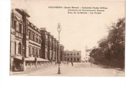 ASIE----SRI-LANKA--COLOMBO-- Quen Street -general Poste Office-rue De La Reine-la Poste--- Voir 2 Scans - Sri Lanka (Ceylon)