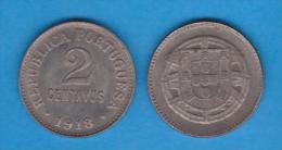 PORTUGAL   2 CENTAVOS  HIERRO/FERRO/IRON 1.918   KM#567   T-DL-10.646  Copy - Portugal