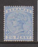 Bahamas 1894 Queen Victoria 2&1/2d Ultramarine MLH - 1859-1963 Crown Colony