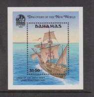 Bahamas 1991 Columbus Landfall Series - Pinta Sights Land Miniature Sheet MNH - Bahamas (...-1973)