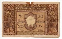 20 Somali - Cassa Per La Circolazione Monetaria Della Somalia - Somalia