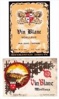 3 Jolies étiquettes De « Vin Blanc Moelleux » Imprimées à Tournai (Belgique), Années 1970 - Belgio