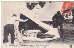 23516 Versailles France - Camp Satory Sejour Sous Tente, Distraction Bonne Farce -1 LL-correspondance Guerre 1914