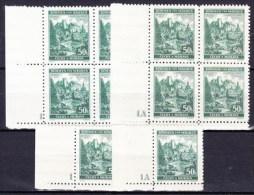 Boheme Et Moravie 1940 Mi 39 (Yv 47) + Blocs De 4 Avec No De Planche 1 Et 1A, (MNH) **, Petit BDF - Bohemia & Moravia