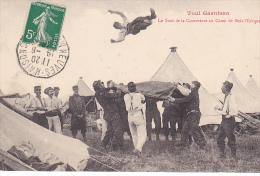 23520 TOUL Garnison Le Saut De La Couverture Au Camp De Bois L'Evêque  -ed Pratheroon? Gymnastique Soldat Detente