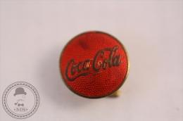 Old Coca Cola Pin Badge - Round Red Colour - Marcas Registradas