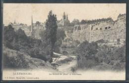 - CPA LUXEMBOURG - Luxembourg, Les Rochers Du Bock Et Ville Haute - Luxemburg - Town