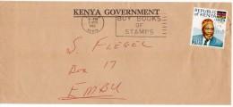Kenya 1965 - OFFICIAL COVER - STAMP 1964 PRESIDENT JOMO KENYATTA FLAG 30C - - Kenia (1963-...)