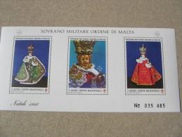 SMOM 1986 NATALE BAMBINO DI PRAGA - BF INTEGRO - Malta (Orden Von)