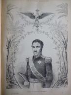 Majesté Madécasse , Radama II , Dernier Roi De Madagascar , Gravure De 1884 - Documents Historiques