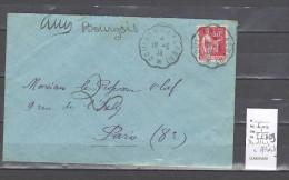 Lettre Cachet Convoyeur Doullens à Albert - Postmark Collection (Covers)