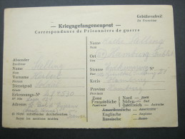 1947, Prisonnier De Guerre, Lager 121  St.Paul D`Eyjeaux, Carte  A Allemagne - Marcofilie (Brieven)