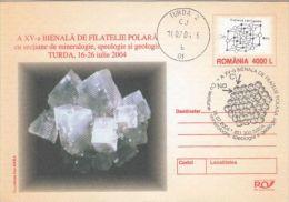 MINERALS, SALT MINERAL, COVER STATIONERY, ENTIER POSTAL, 2004, ROMANIA - Minéraux