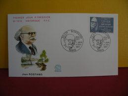 FDC- Jean Rostant 1894/1977 - Paris- 21.2.1987 - 1er Jour, - 1980-1989