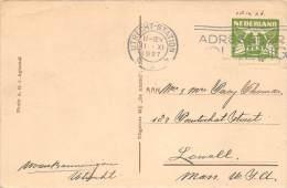 13268   Netherlands Utrecht-station Postmark Cancel 1927 - Period 1891-1948 (Wilhelmina)