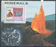 0187 Geology Minerals Volkanos 1997 Somalia S/s MNH ** - Volcanes