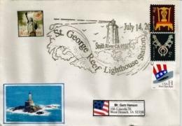 ETATS-UNIS. Phare De St George Reef. Californie., Enveloppe Souvenir - Phares