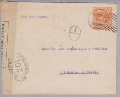 Chile Ganzsache 1918-10-01 Zensurbrief Nach Bern - Chili
