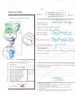 Régie Des Postes - N° D'ordre 1702 - Réexpédition Définitive - 5750 Floreffe De 1987 - Documentos Del Correo
