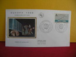 FDC- Europa CEPT Cable & Satellite - Paris - 30.4.1988 - 1er Jour, - 1988