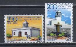 Uruguay. Phare Du Cerro De Montevideo (200 Ieme Anniversaire). 2 T-p Neuf ** Yvert # 2024/25. Cote 18.00 € - Phares
