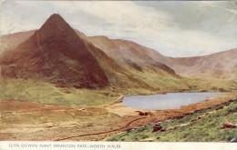NORTH WALES, Llyn Ogwen Nant Ffrancon Pass  - 2 Scans - Caernarvonshire