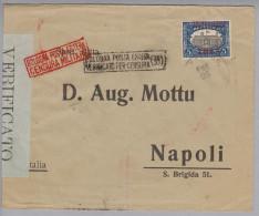 Dominikanische Republik 1916-01-25 Zensurbrief Nach Napoli IT - Dominicaine (République)