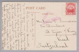 Bermuda 1915-04-30  Zensurierte Ansichtskarte Nach St.Légier Schweiz - Bermudes