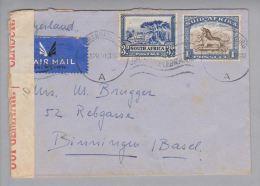 Südafrika 1940-04-15 Johannesburg Zensurbrief Nach Basel - Autres