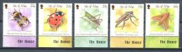 127 ILE DE MAN 2001 - Insectes Coccinelle Bourdon (Yvert 945/49) Neuf ** (MNH) Sans Trace De Charniere - Man (Insel)